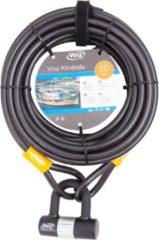 Grijze Vinz Kinabalu Kabelslot - 12mm x 10 Meter (Slot voor tuinmeubels/speeltoestellen/boot/terras/tuinset)