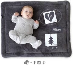 Grijze Baby Boum Bemini boxkleed softy INSTA 75 x 95 cm antraciet 75x95cm