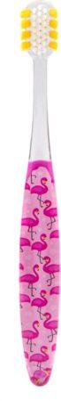 Afbeelding van Roze World Wide Daily Better Toothbrush - Kids - Flamingo