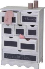 Heute-wohnen Kommode Ermelo, Schubladenschrank mit Tafel, Shabby-Look Vintage 87x60x30
