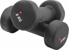 Zwarte Discountershop® Handgewicht Set 2x2 KG - Dumbbell set 4 Kg - Gewichten 4 Kilo