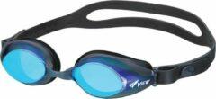 Zwarte Zwembril VIEW Solace V-825AMR, Mirror lens, Volwassenen, Unisex, Black