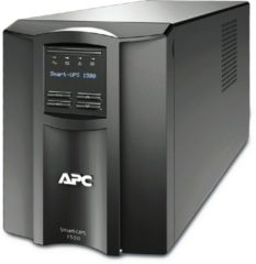 Zwarte APC Smart-UPS SMT1500IC - Noodstroomvoeding / 8x C13 aansluiting/ USB / Smart Connect / 1500VA