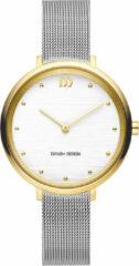 Gouden Danish Design watches edelstalen dameshorloge Amelia Two-Tone Silver Bark IV65Q1218