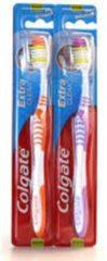 Witte Colgate Tandenborstel Extra Clean Medium - 6 stuks