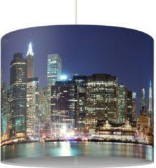 PPS. Imaging Pendelleuchte - Manhattan in New York City - Lampe - Lampenschirm Blau