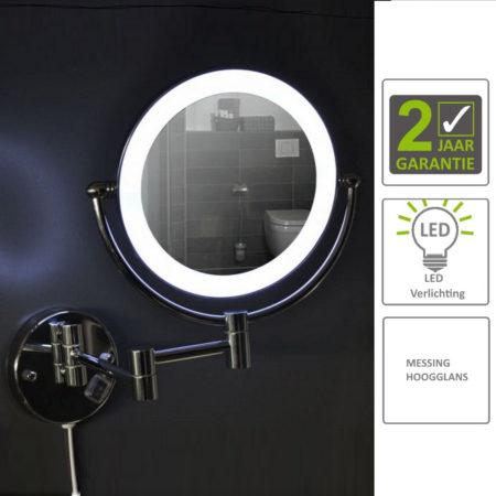 Afbeelding van Boss & Wessing BWS LED Scheer- En Cosmetische Spiegel Wand 20 cm