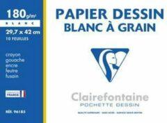 Witte Clairefontaine tekenpapier 'Blanc à Grain', actiepakket