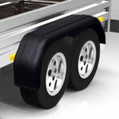 VidaXL 2 x Spatbord tandem voor aanhanger wielen 240 x 1650 mm