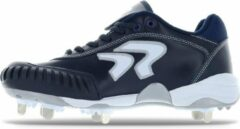 Ringor Dynasty Softbalschoenen met Kunststof Spikes en Pitching Toe (PTT) - Donkerblauw - US 6