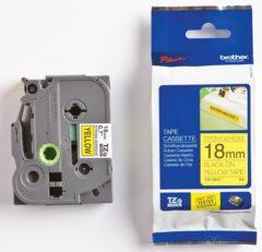 Brother TZe-S641 Labeltape extra sterk klevend Tapekleur: Geel Tekstkleur: Zwart 18 mm 8 m