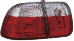 AutoStyle Set Achterlichten passend voor Honda Civic Sedan 1996-2001 - Rood/Helder
