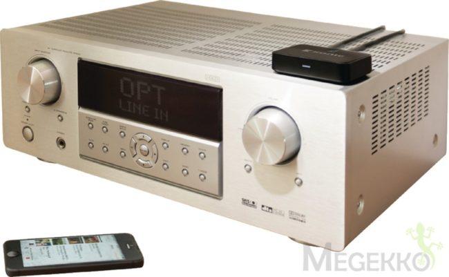 Afbeelding van Zwarte König geavanceerde audioontvanger met Bluetooth