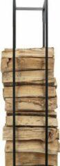 Cosy @ Home Houtrek Woodblocks Zwart - 33x33x(H)115cm - Vierkant Metaal
