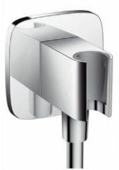 Hansgrohe Porter E Fixfit Porter E wandhouder met muuraansluitbocht met terugslagklep chroom 26485000