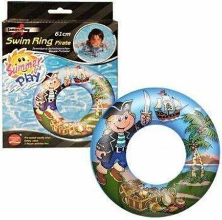 Afbeelding van Blauwe Summerplay Summer Play - Zwemband jongens piraat 61 cm