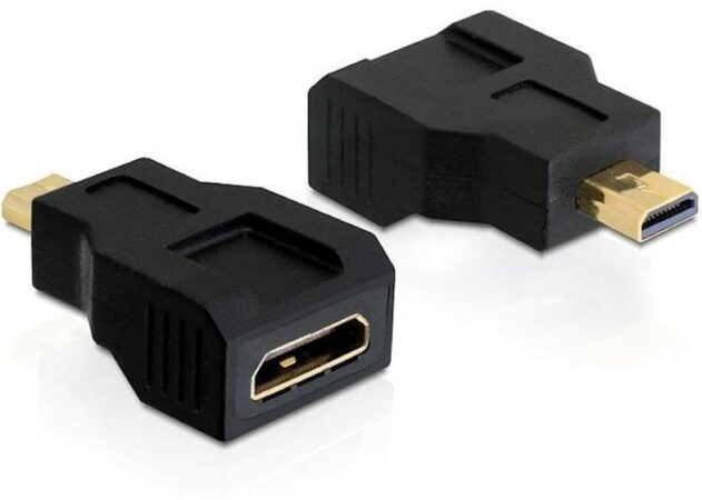 Afbeelding van HDMI Mini - HDMI Micro kabel - HDMI Mini Verloopstekker - Delock