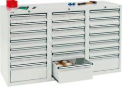 Stumpf Metall Stumpf® STS 410 Schubladenschrank mit 21 Schubladen, lichtgrau - 90 x 150 x 50 cm