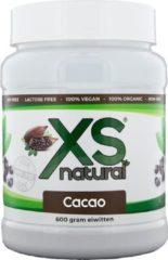 XS natural Cacoa [600 gram Plantaardige eiwitten] - 100% vegan - proteïne - eiwit shake - pure cacao - zonder geraffineerde suikers - vetarm - suikerarm - aminozuren - puur natuur - spierherstel - 100% organisch - lactose vrij - Soja vrij