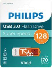 Philips FM12FD00B USB flash drive 128 GB USB Type-A 3.0 (3.1 Gen 1) Oranje, Wit