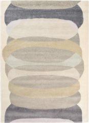 Harlequin - Elliptic Charcoal 140304 Vloerkleed - 170x240 cm - Rechthoekig - Laagpolig Tapijt - Modern, Retro - Beige, Grijs