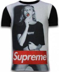 Tony Backer Lollipop - Digital Rhinestone T-shirt - Zwart Lollipop - Digital Rhinestone T-shirt - Zwart Heren T-shirt Maat S
