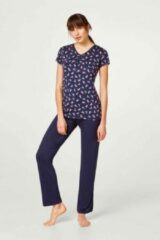 Marineblauwe Esprit - Karline - Pyjama - 048EF1Y034 – Navy - 46