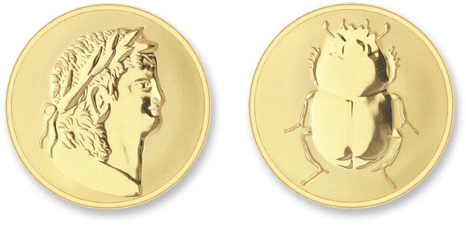 Afbeelding van Mi Moneda ROM-02 Roman - Scarabee goudkleurig Medium