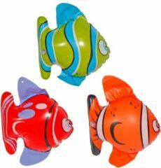 Folat 6x Opblaasbare tropische vissen - opblaas dieren - 14 x 22 cm per stuk
