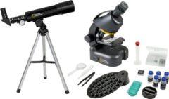 Zwarte National Geographic Bresser telescoop + microscoop compact met Smartphonehouder