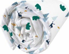 Witte Matt & Rose Hoeslaken Nordic - Eenpersoons - 90 x 190/200 cm - Katoen