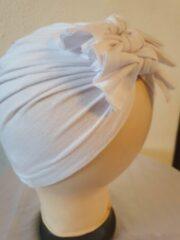 Babygifts4you tulband Baby Turban strikken geschikt voor 6 tot 18 maanden wit