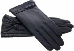 Zwarte IMoshion Echt lederen touchscreen handschoenen - Maat M