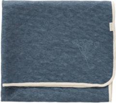 Donkerblauwe Fresk Nordic wiegdeken van katoen 75 x 100 cm
