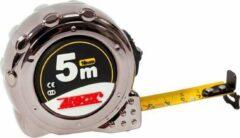 4Tecx Rolbandmaat aat 5M 19mm Chroom Kl2