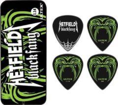 Dunlop Pick Tin Hetfield Black Fang 6-Pack 073mm signature plectrum