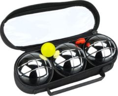 Get & Go Jeu de Boules Set IV - 3 Ballen - Chroom/Zwart