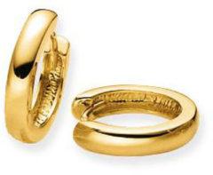 Glow Gouden Oorbellen Klapcreolen 14 x 2.5 mm breed 207.5073.14