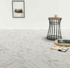 VidaXL Vloerplanken zelfklevend 5,11 m² PVC wit marmer