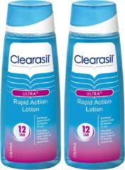 Clearasil Reinigingslotion Ultra Rapid Action Lotion - 2 x 200 ml - Grootverpakking