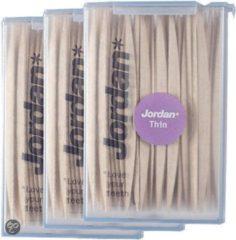 Jordan Dun 2-Zijdig - 3x 100 st - Tandenstoker - Voordeelverpakking