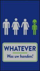 Blauwe MatStyles Vloerkleed Tapijt Message Mat - Whatever! Was uw Handen - 150x85 - COVID-19 - Wasbaar
