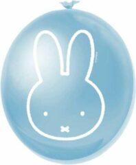 Merkloos / Sans marque Nijntje Ballonnen Lichtblauw 30cm 6 stuks