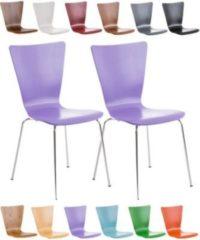 CLP 2x robuster und pflegeleichter Stapelstuhl AARON mit Holzsitz & ergonomisch geformter Sitzfläche, FARBWAHL