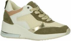 Bruine La Strada Wedge Sneaker lt. Kaki Maat 38