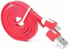 Qatrixx Micro USB Kabel Datacable 1 meter Universeel Red Rood