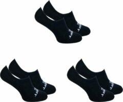 6-Pack O'Neill Invisible Zomer Sneaker Sokken Unisex 710003 Zwart - Maat 39-42