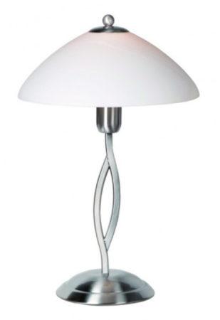 Afbeelding van Steinhauer Capri - Tafellamp - 1 lichts - Staal - Wit albast glas