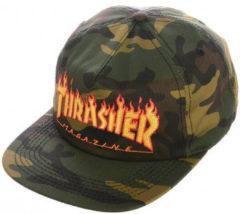 Groene Pet Thrasher Cap flame snapback