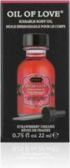 Kama Sutra Strawberry Dreams - Likbare Olie - 22 ml - Rood - Drogist - Massage - Drogisterij - Massage Olie